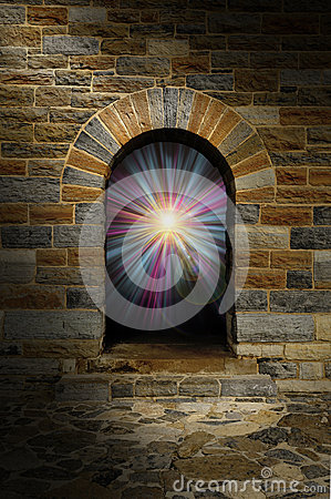 Free Magical Vortex In A Stone Arch Doorway Royalty Free Stock Photography - 26243417