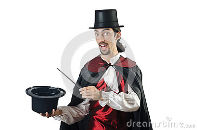 Magician doing tricks