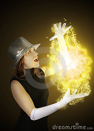 Free Magician Girl Stock Photo - 12200640