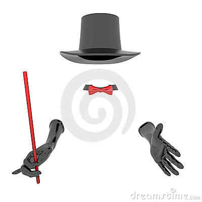 Magician hat and gloves