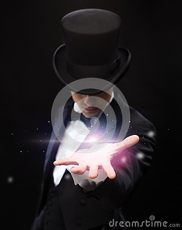 Free Magician Holding Something On Palm Of His Hand Royalty Free Stock Photography - 38567527