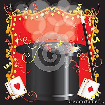 Magician s magic act birthday party invitation