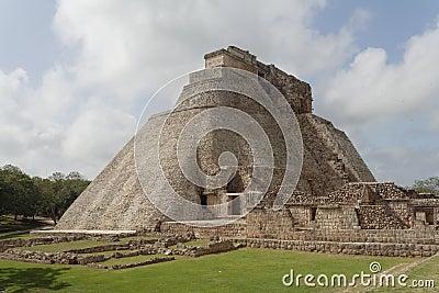 Magicians Pyramid Uxmal Maya Site