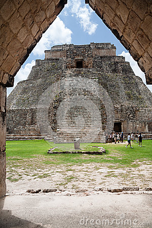 The Magicians Pyramid Uxmal Yucatan Mexico Editorial Photography
