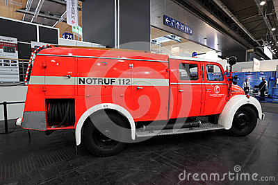 Magirus Deutz fire truck from 1960 Editorial Photography