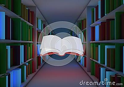 Magisch bibliotheekconcept
