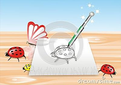 Magischer Bleistift