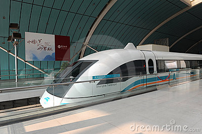 Maglev train starts operation on June 1, 2010 Editorial Stock Photo