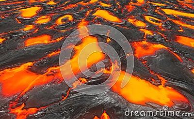 Magma or molten lava