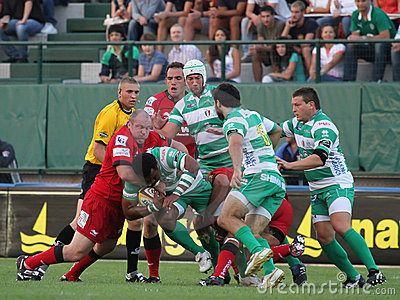 Magners Celtic League, Benetton vs Scarlets Editorial Stock Photo