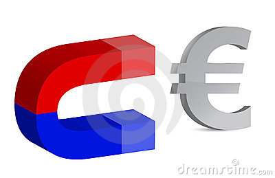 Magnet and euro sign