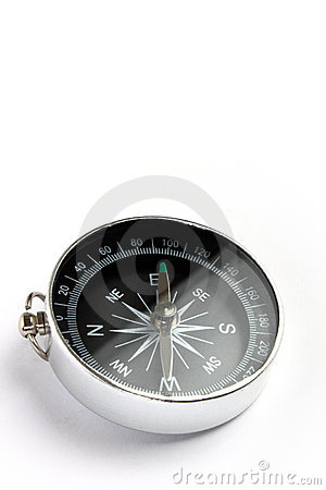 Magnetic compass closeup
