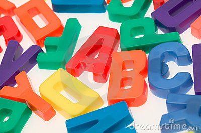 alphabet toy magnetic letters over blackboard royalty free stock image image 31331616