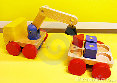 Magnetic toy trucks