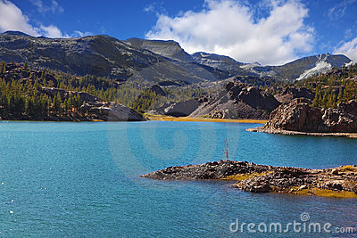 Magnificent azure lake