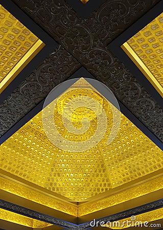 Magnificent carving interior ceiling
