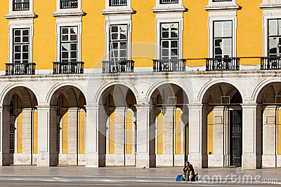 Magnificent manueline style architecture of the royal palace buildings Editorial Stock Image
