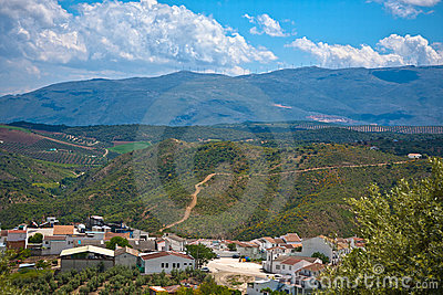 Magnificent panorama of small town in Andalusia