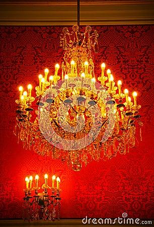 Magnificent vintage crystal chandelier