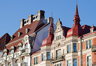 Magnificent vintage facades and rooftops.