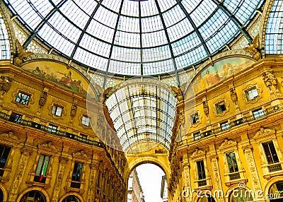 Magnificent Vittorio Emmanuele gallery, Milan