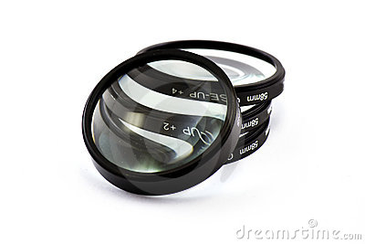 Magnified lenses in white