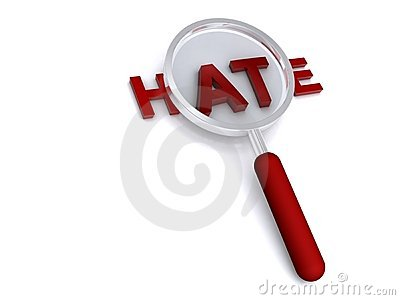 Magnified word hate