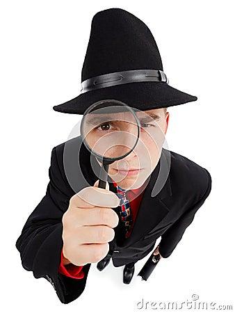 Magnifier detektywistyczni potomstwa