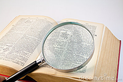 Magnifier lens and book 2