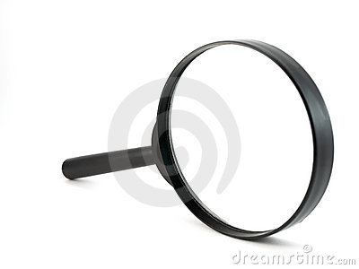 Magnifier over white