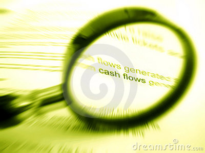 Magnifier and words cash flow