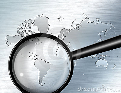 Magnify Glass  South America