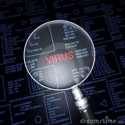 Magnify Lens On Virus