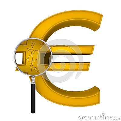 Magnifying Euro crack