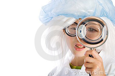 Magnifying Glass and a Child