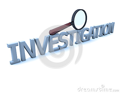 Magnifying glass and investigation