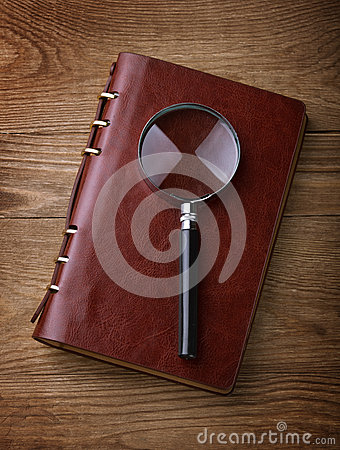Magnifying Glass and Journal