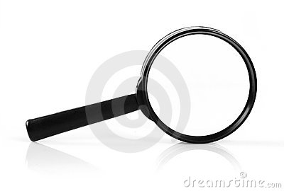 Magnifying glass with soft shadow