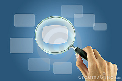 Magnifying glass and textbox