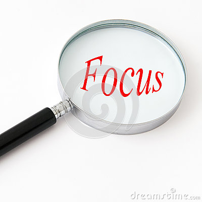 Free Magnifying Glass With Focus Stock Photography - 24651432
