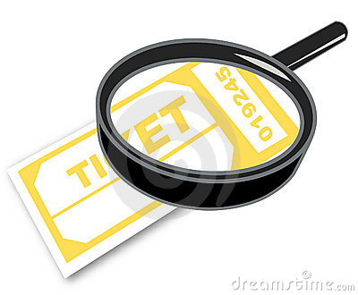 Magnifying ticket