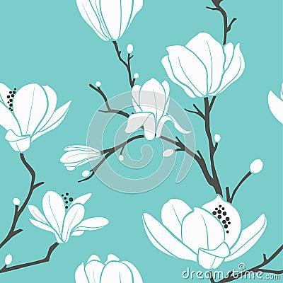 Free Magnolia Pattern Royalty Free Stock Photos - 16036298