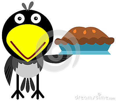 Magpie with a pie
