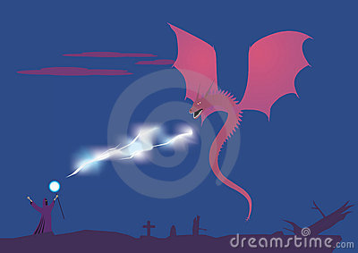 Magus and dragon battle