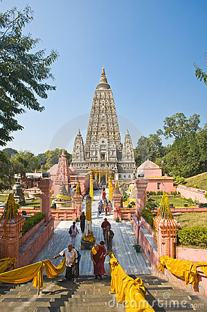 Mahabodhi Temple, Bodhgaya Editorial Photography