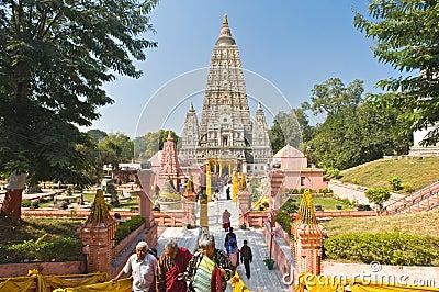 Mahabodhi Temple, Bodhgaya Editorial Image