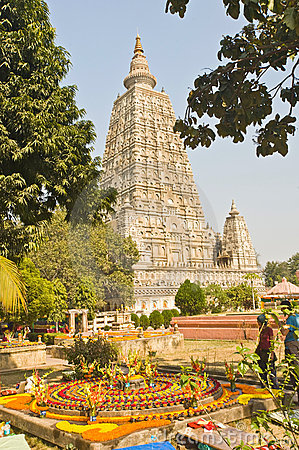 Mahabodhi Temple, Bodhgaya Editorial Photo