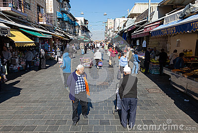 Mahane Yehuda Editorial Stock Image