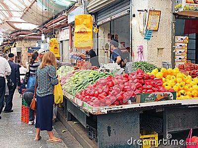 Mahane Yehuda Market Editorial Photo