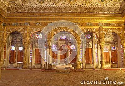 Maharajah room inside Mehrangarh Fort,Jodhpur